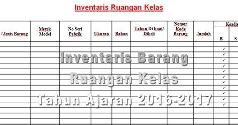 format buku inventaris kelas contoh format tabel untuk pendataan inventaris barang