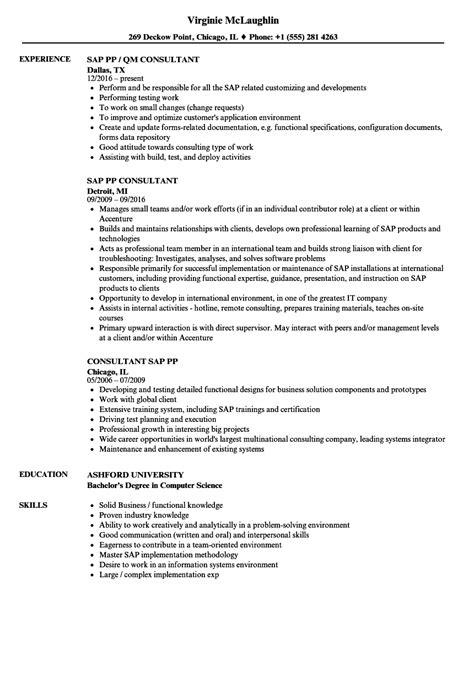 fancy sle resume sap qm consultant illustration