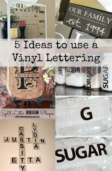 vinyl lettering for craft projects 5 diy vinyl lettering projects discountqueens