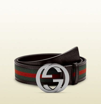 Gucci Belt Green Canvas W Interlocking G Buckle Real 11 Quality 76 best belts for images on mens fashion