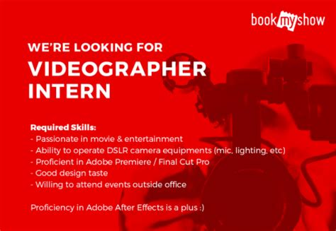 bookmyshow indonesia career videographer internship studentjob indonesia