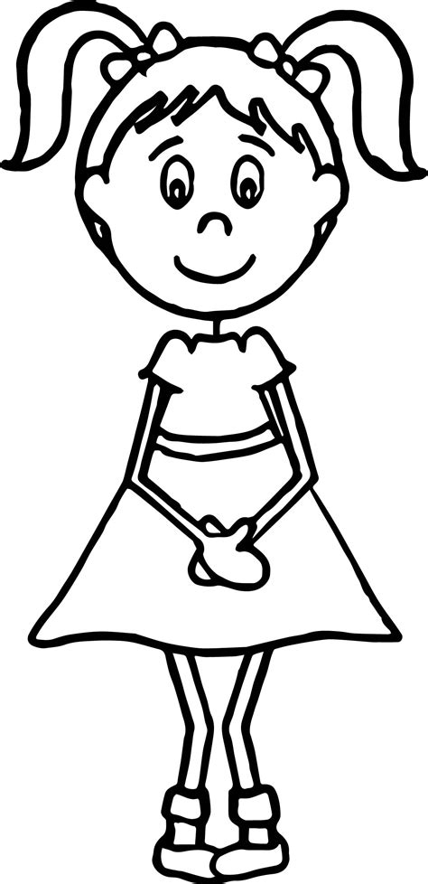 English Teacher Girl Student Coloring Page Wecoloringpage Student Coloring Pages