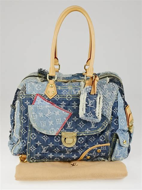 Louis Vuitton Patchwork Bag - louis vuitton limited edition blue denim monogram denim