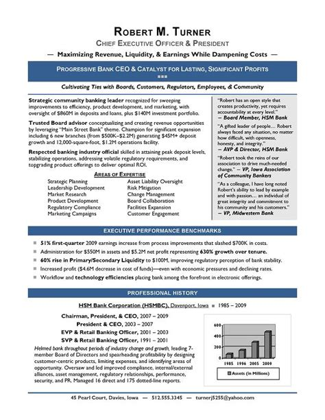 Executive Resume by Executive Resume Exles To Follow Resume Exles 2018