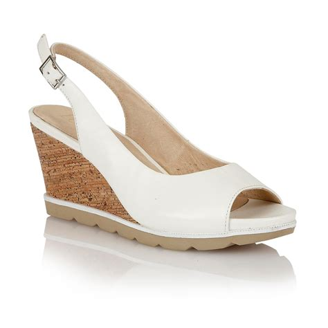 lotus maron wedge sandal in white lyst