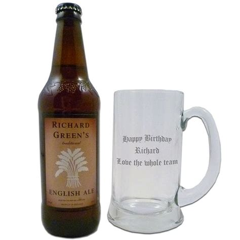 personalised ale and glass set find me a gift