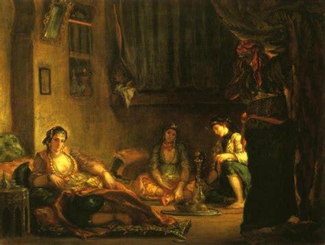 donne di algeri nei loro appartamenti donne di algeri nei loro apartmente olio su tela di