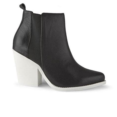 sol sana s toni leather heeled ankle boots black