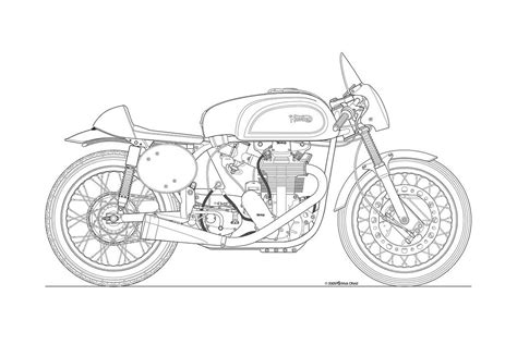 R Drawing Lines by Photos Some Classic Motorcycle Line Drawings
