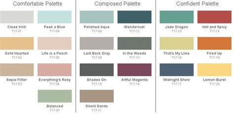 designer paint colors 2017 behr 2017 paint color trends color palette collections