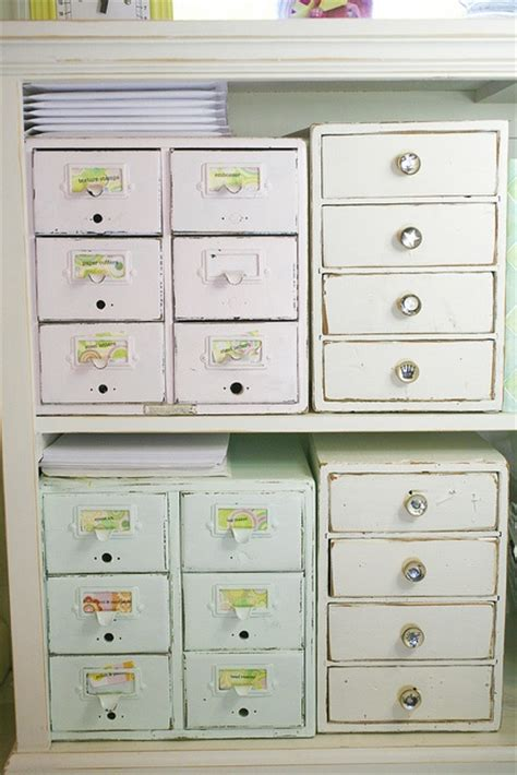 painted drawers to organize all your crafty
