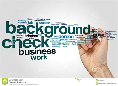 how do you if you a background check background check word cloud concept on grey background