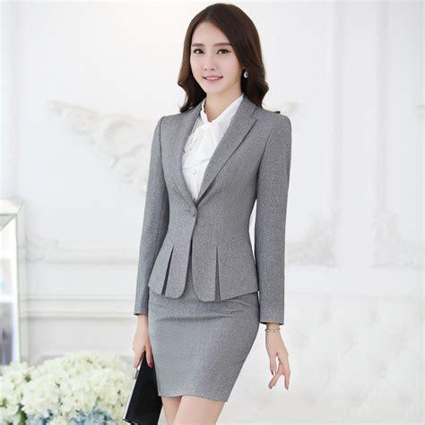 styles of work suites buy formal navy blue blazer women work suits skirt jacket