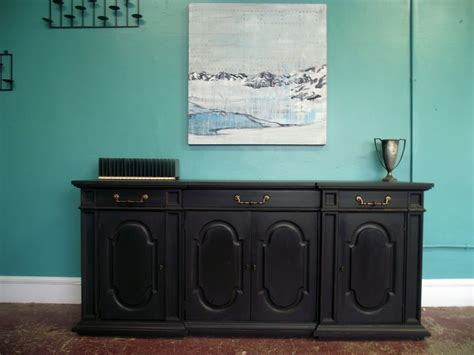 Mba To Distressed by Vintage Ground Gunmetal Gray Distressed Buffet Credenza