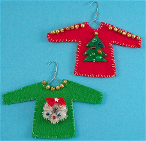 diy ugly sweater ornament allfreeholidaycrafts com