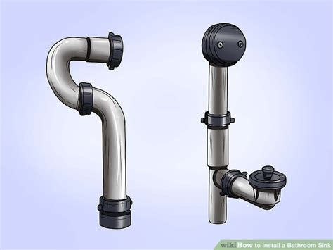 how to install a bathroom sink drain how to install a bathroom sink 13 steps with pictures