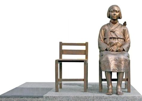 comfort how the statue of japanese nationalist protest of comfort sculpture