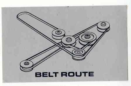 dixie chopper belt diagram dixie chopper decal dc65422 belt routing