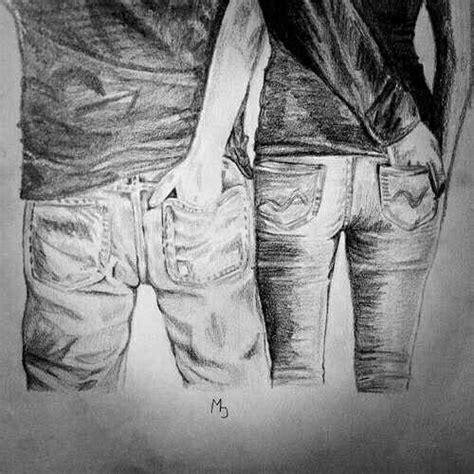 Imagenes Blanco Y Negro De Parejas | amor pareja novios enamorados dibujo ilustracion lapiz