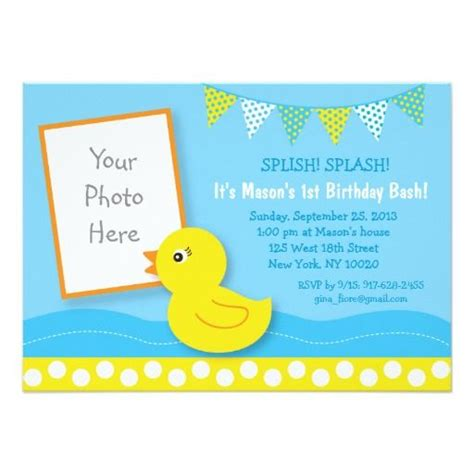 rubber st companies for card 399 best duck birthday invitations images on
