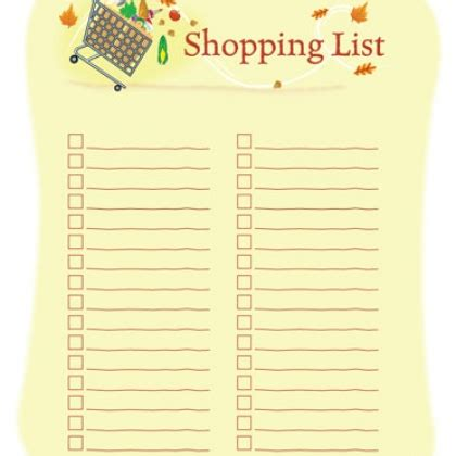 cute printable grocery list template 8 best images of cute week printable shopping lists