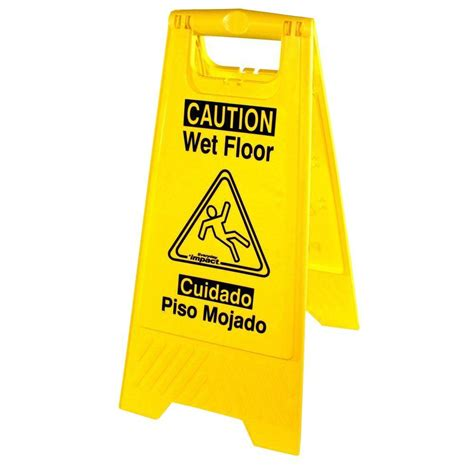 genuine joe universal graphic yellow floor sign
