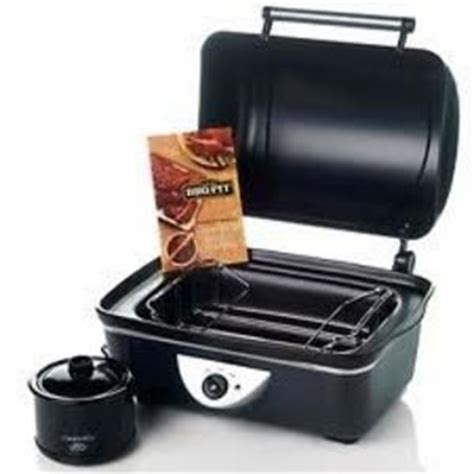 rival bbq pit countertop roaster and crock pot bb100