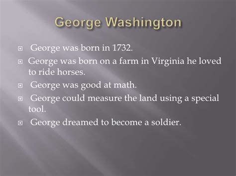 george washington biography ppt 2nd grade biography powerpoint project