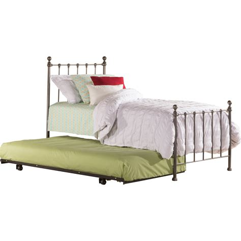 trundle bed bedroom sets molly black steel twin bed with trundle hillsdale
