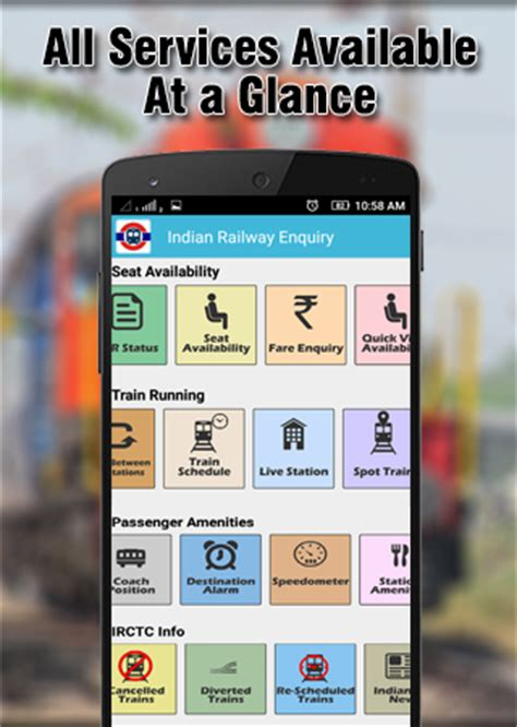 railway enquiry for seat availability indian railways enquiry irctc android apps on play