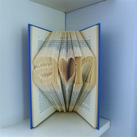 Handmade Gifts For Anniversary - boyfriend gift folded book anniversary