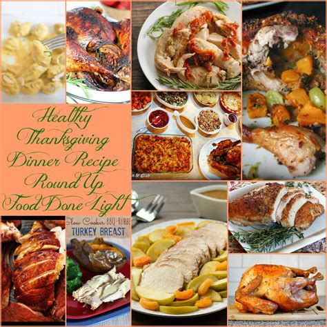 healthy thanksgiving turkey and beyond recipe round up food done light