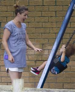 my wife first swing guy sebastian s pregnant wife jules shows off her growing