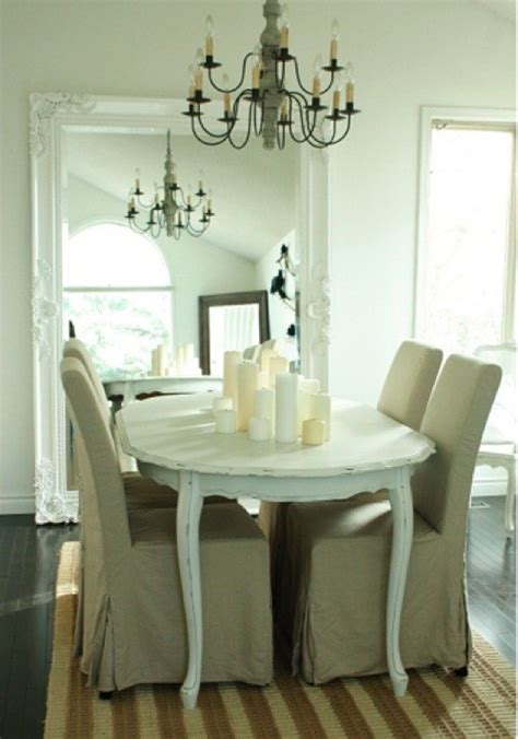 Mirror In The Dining Room by White Framed Mirrors Bring Classic Look