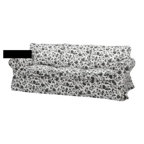 black and white sofa covers ikea ektorp 3 seat sofa slipcover cover hovby black white