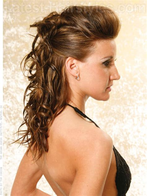 hairstyles pulled back wavy hair pulled back hairs picture gallery