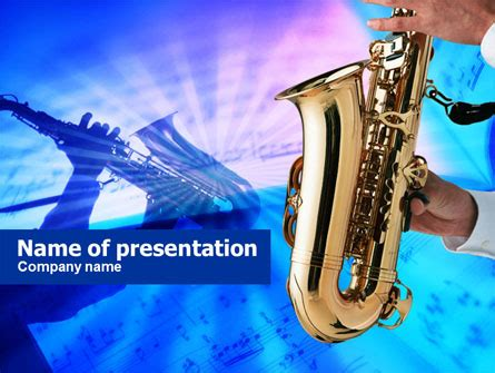 power point themes jazz jazz saxophone presentation template for powerpoint and