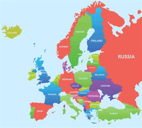 map of europe map europe map guide of the world