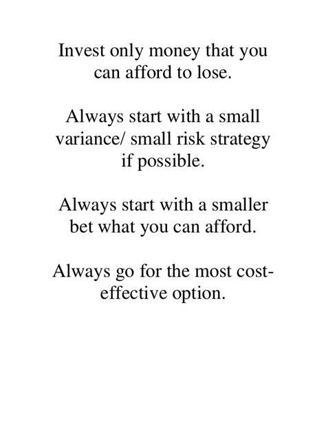 binary options money management important factors