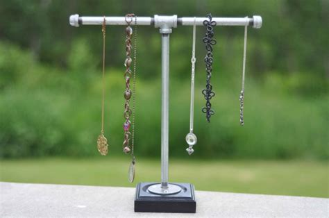 how to make a jewelry display fabulously easy industrial necklace holder recipe holder