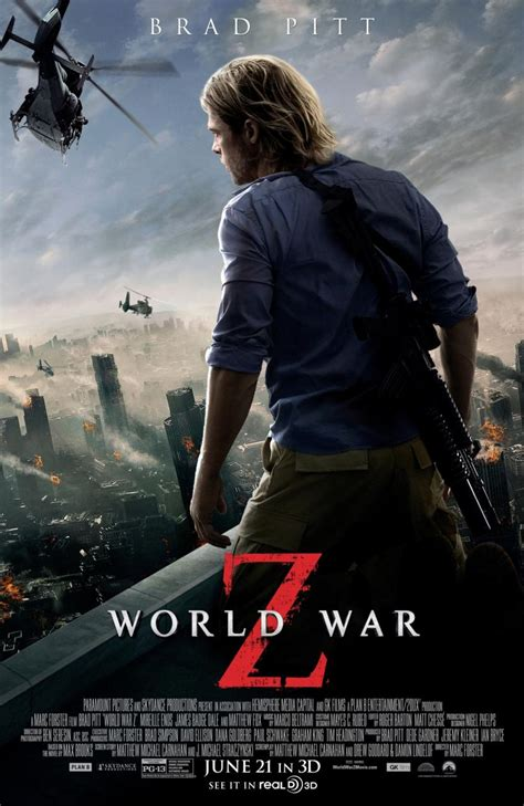 film bagus world war z world war z une nouvelle affiche avec brad pitt