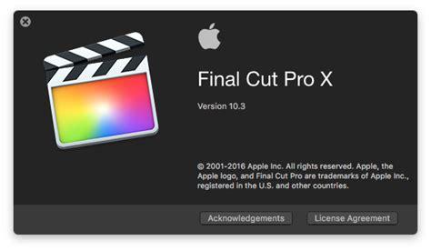 final cut pro blog final cut pro x 10 3 first look