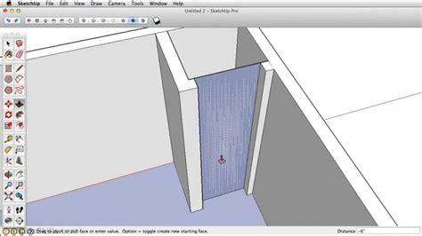 sketchup tutorial walls sketchup 2013 tutorial extruding your walls push pull