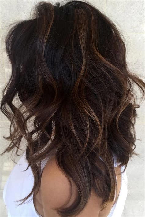 partial highlights for brunettes the 25 best dark hair ideas on pinterest dark