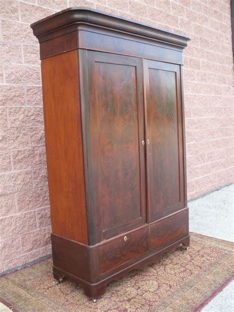 mahogany armoires wardrobes orig 19th c antique wardrobe armoire flame mahogany knock