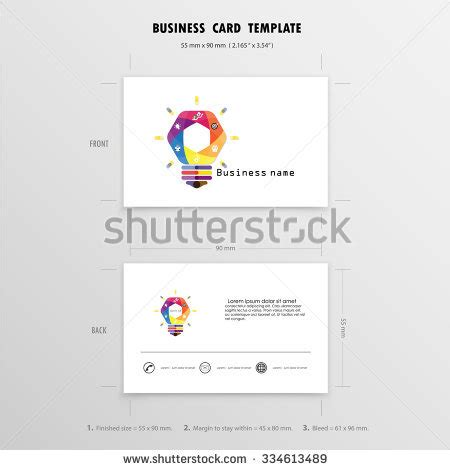 name cards template size abstract creative business cards design template stock