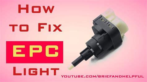epc light audi a4 how to fix epc light