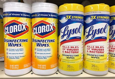 clorox  lysol  disinfecting wipes kill  germs prudent reviews
