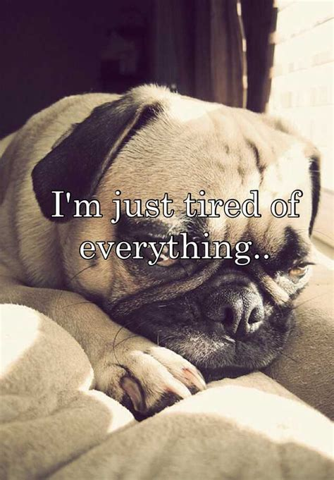 I'm just tired of everything.. I'm Just Tired Of Everything