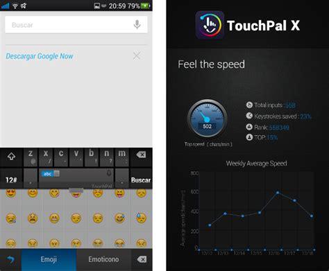 touchpal x apk touchpal x keyboard rapidez precisi 243 n y predicci 243 n en un teclado el androide libre